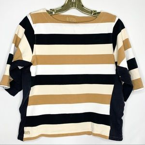 Roots Half Sleeve Striped Top